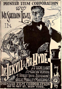 1920 movie poster for Dr Jekyll and Mr Hyde