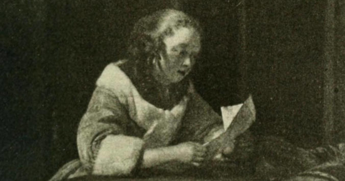 Girl reading a letter - Sublime Horror newsletter
