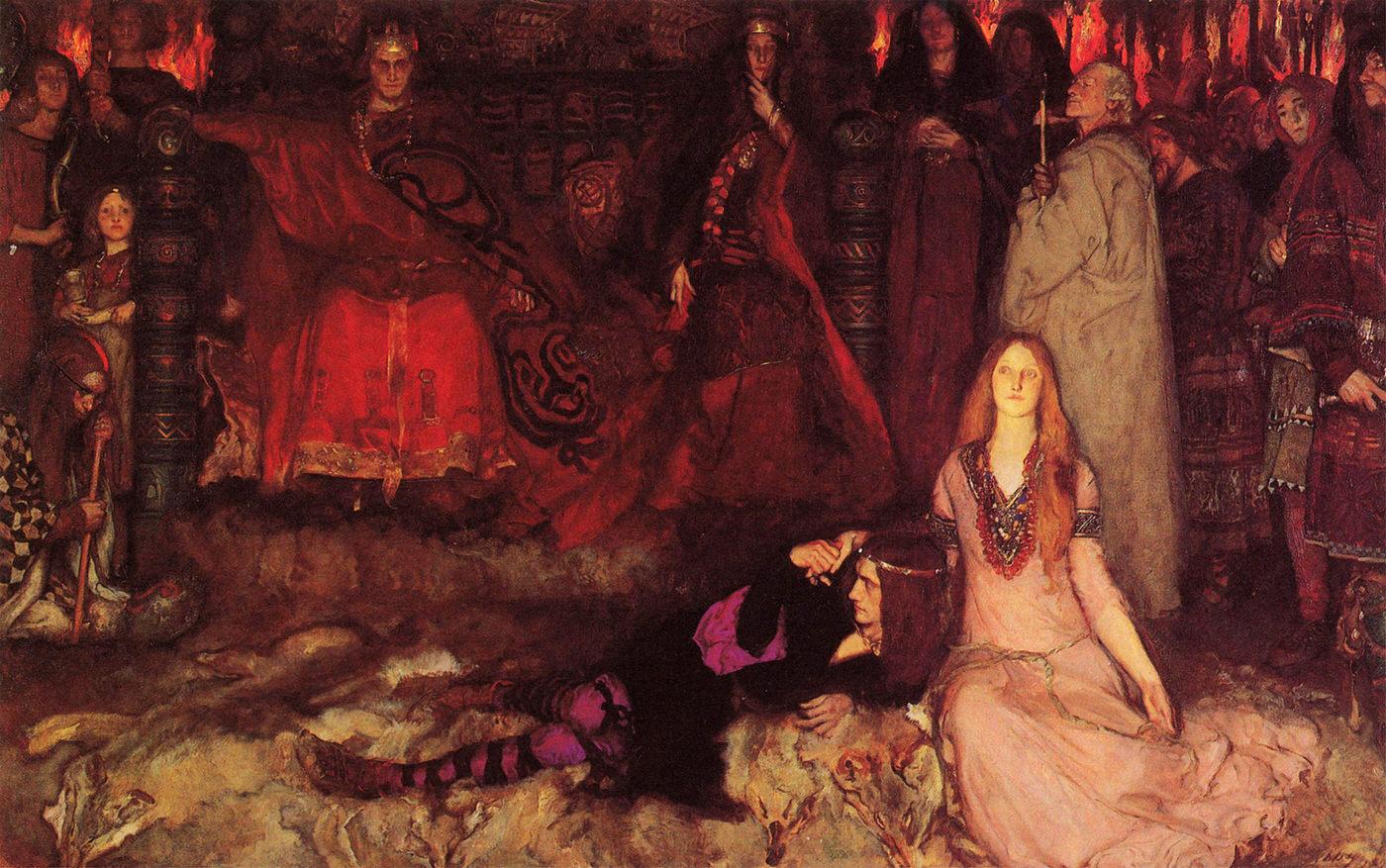 The Play Scene in Hamlet by Edward Austin Abbey