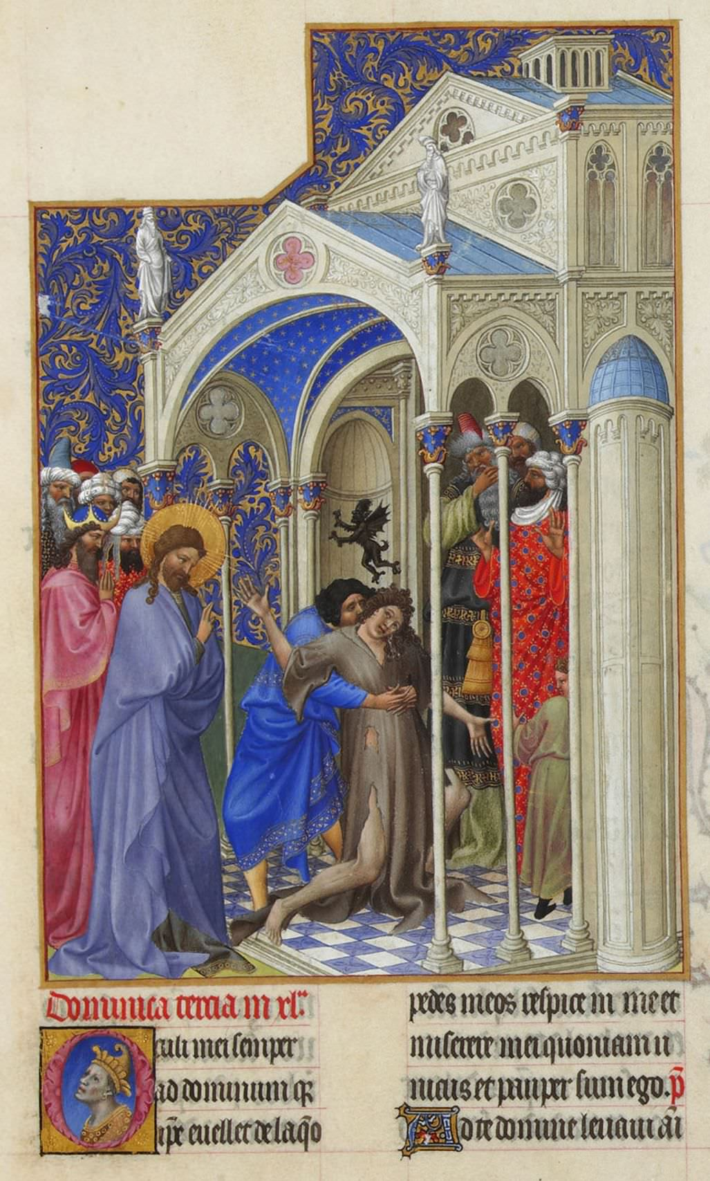 The Exorcism - Folio 166r from Très Riches Heures