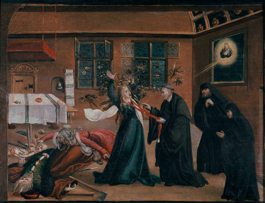 Medieval representations of exorcism and demoniacs in art
