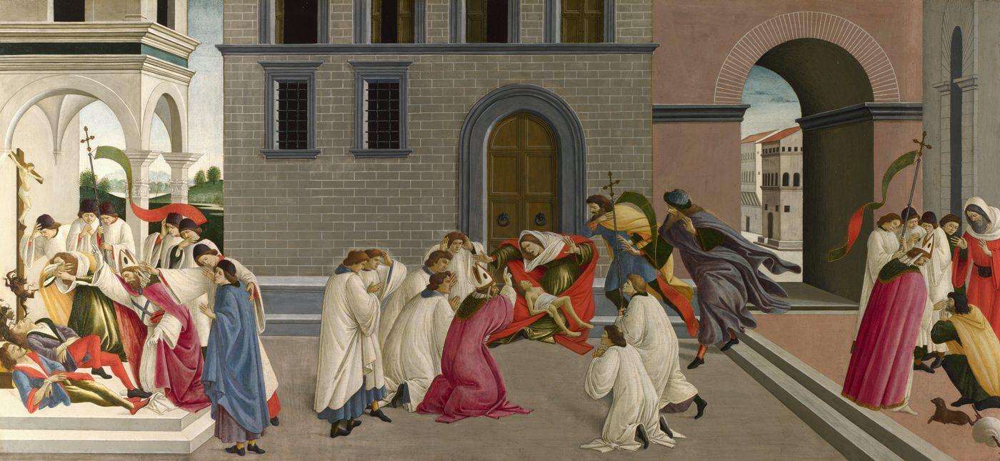 Three Miracles of Saint Zenobius (1445-1510) by Sandro Botticelli