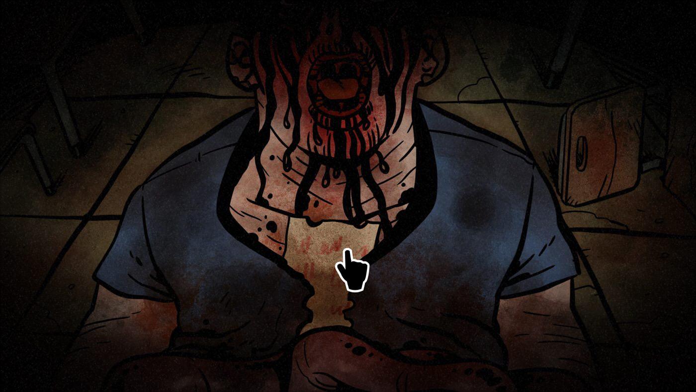 Worse Than Death screenshot of a gruesome murder scene